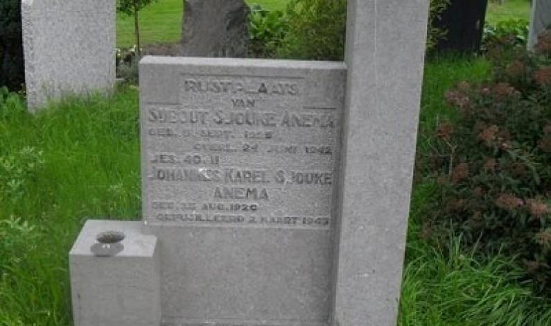 Johannes Anema, gefusilleerd net voor de bevrijding.