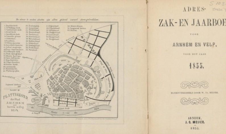 1854 – idee voor een nieuwe wijk buiten de stadsmuren van Arnhem