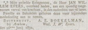 Steenstraat Buitenrust Opregte Haarlemsche Courant 1832