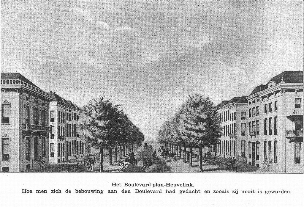 De zes villa's op de Boulevard Heuvelink 104 t/m 110