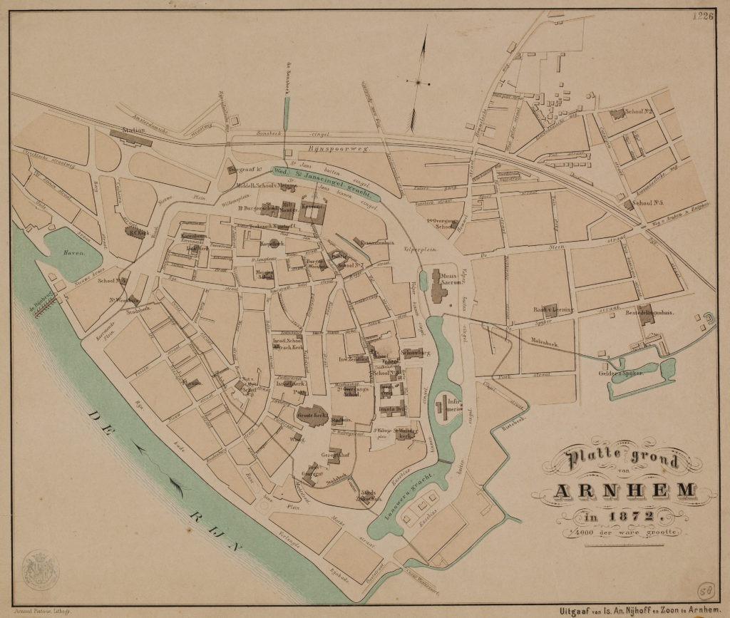 plattegrond arnhem met riool-1872-1584
